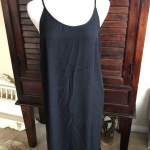 H & M black slip dress